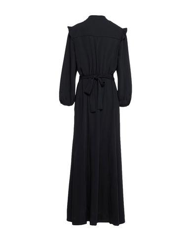 Фото 2 - Женское длинное платье CLIPS MORE черного цвета