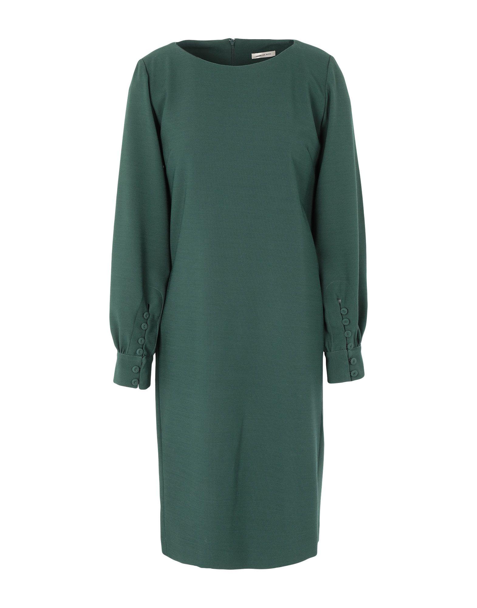 JUPE DE SATIN Платье до колена jupe de satin длинное платье