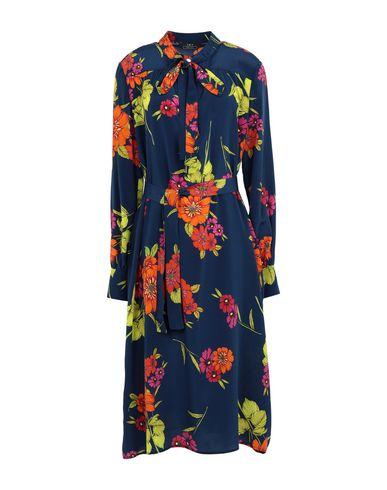 Фото - Платье до колена от SET синего цвета