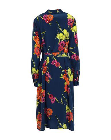 Фото 2 - Платье до колена от SET синего цвета