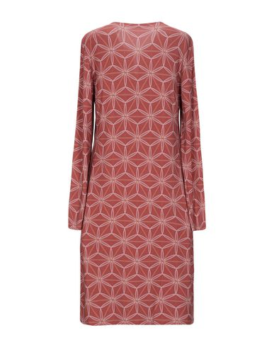 Фото 2 - Платье до колена от SIYU пастельно-розового цвета