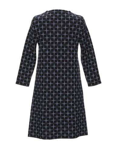 Фото 2 - Женское короткое платье SIYU грифельно-синего цвета