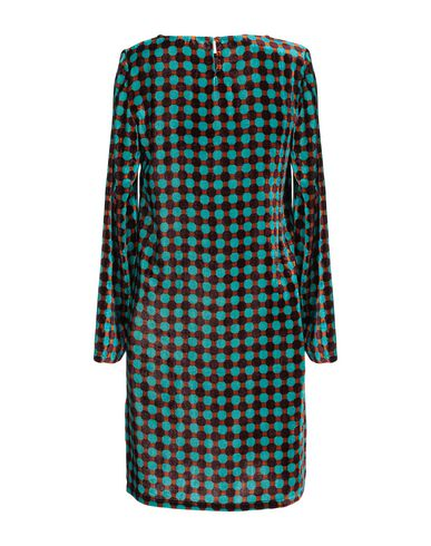 Фото 2 - Женское короткое платье SIYU бирюзового цвета