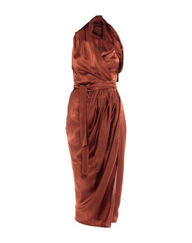 Фото - Платье длиной 3/4 ржаво-коричневого цвета