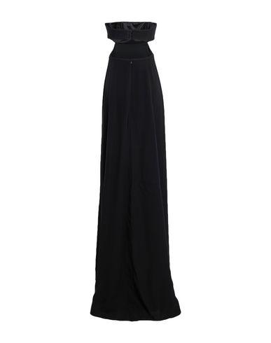 Фото 2 - Женское длинное платье KARL LAGERFELD x KAIA черного цвета
