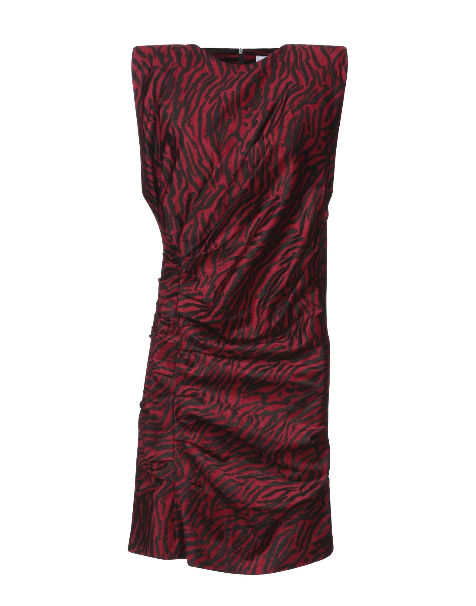 《セール開催中》WEILI ZHENG レディース ミニワンピース&ドレス レッド M コットン 65% / レーヨン 32% / ポリウレタン 3%