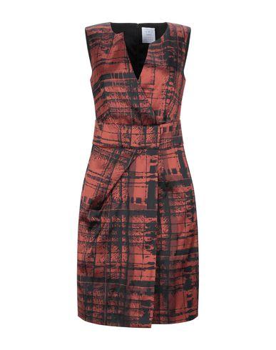 Фото - Женское короткое платье OPI MO OPIFICIO MODENESE кирпично-красного цвета