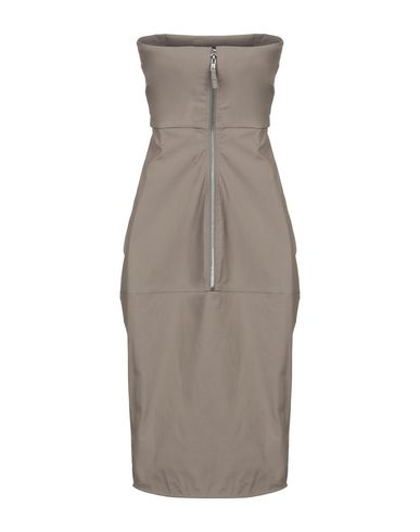 Фото 2 - Платье до колена цвета хаки