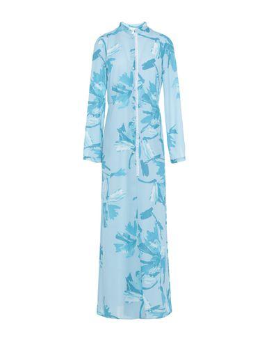 Купить Женское длинное платье OPI MO OPIFICIO MODENESE небесно-голубого цвета