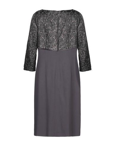 Фото 2 - Платье до колена от BOTONDI COUTURE цвет стальной серый