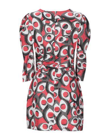 Фото 2 - Женское короткое платье MARC ELLIS красного цвета