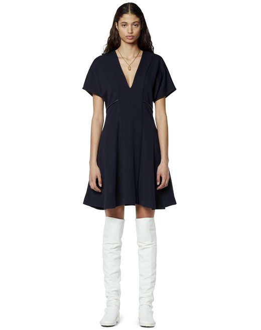 NAVY BLUE JERSEY DRESS - Lanvin