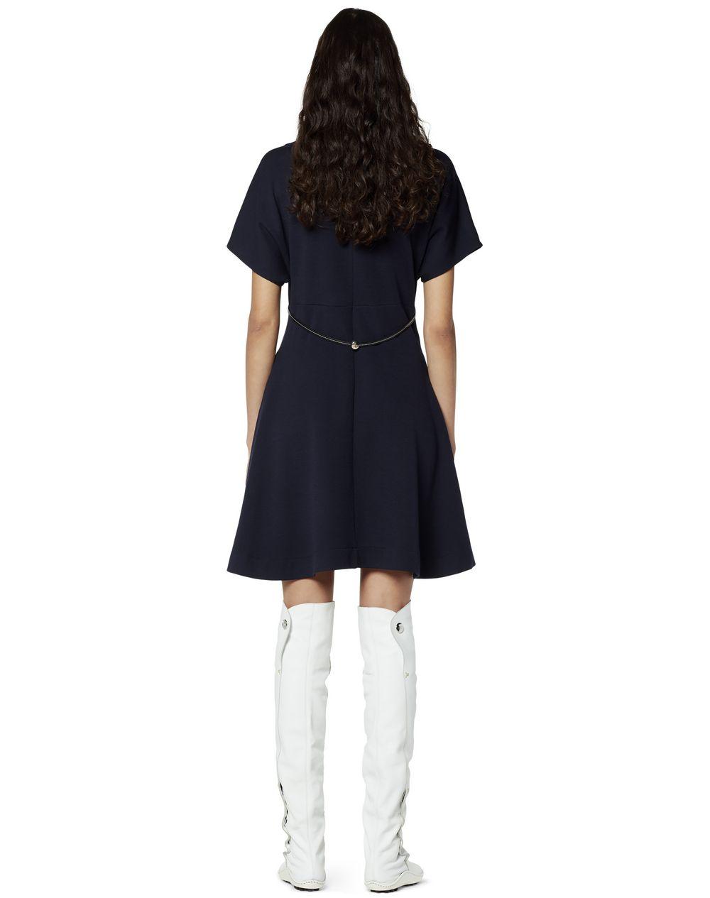 NAVY BLUE JERSEY DRESS - Lanvin