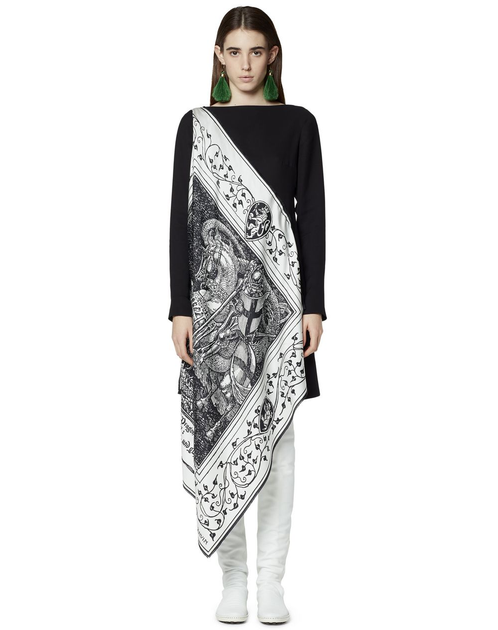 ASYMMETRICAL SCARF DRESS - Lanvin