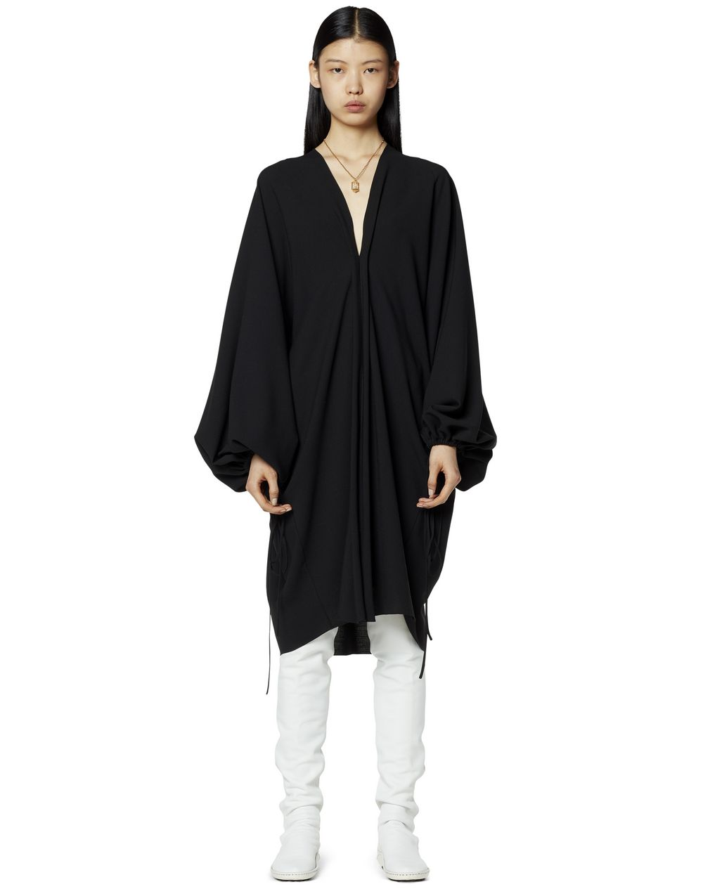 MID-LENGTH WOOL DRESS - Lanvin