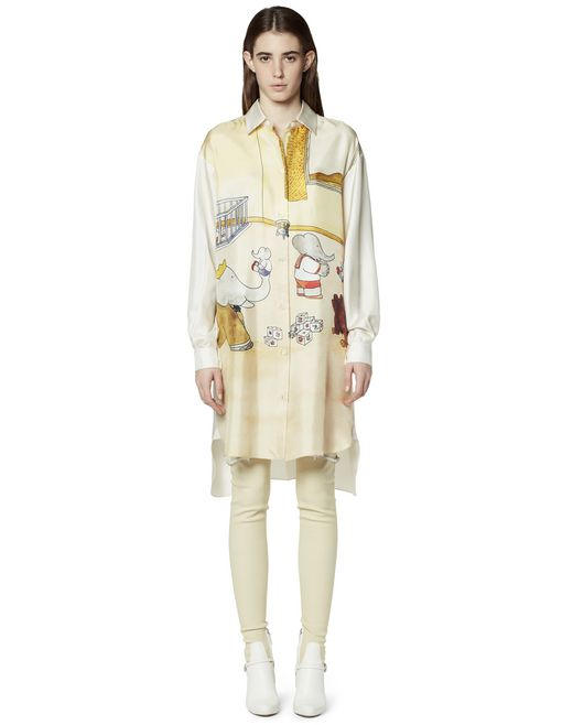 PRINTED SILK SHIRT DRESS - Lanvin