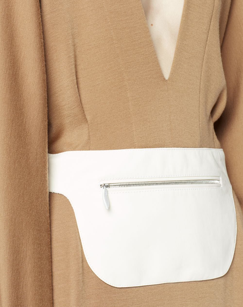 WOOL DRESS WITH LEATHER BELT - Lanvin