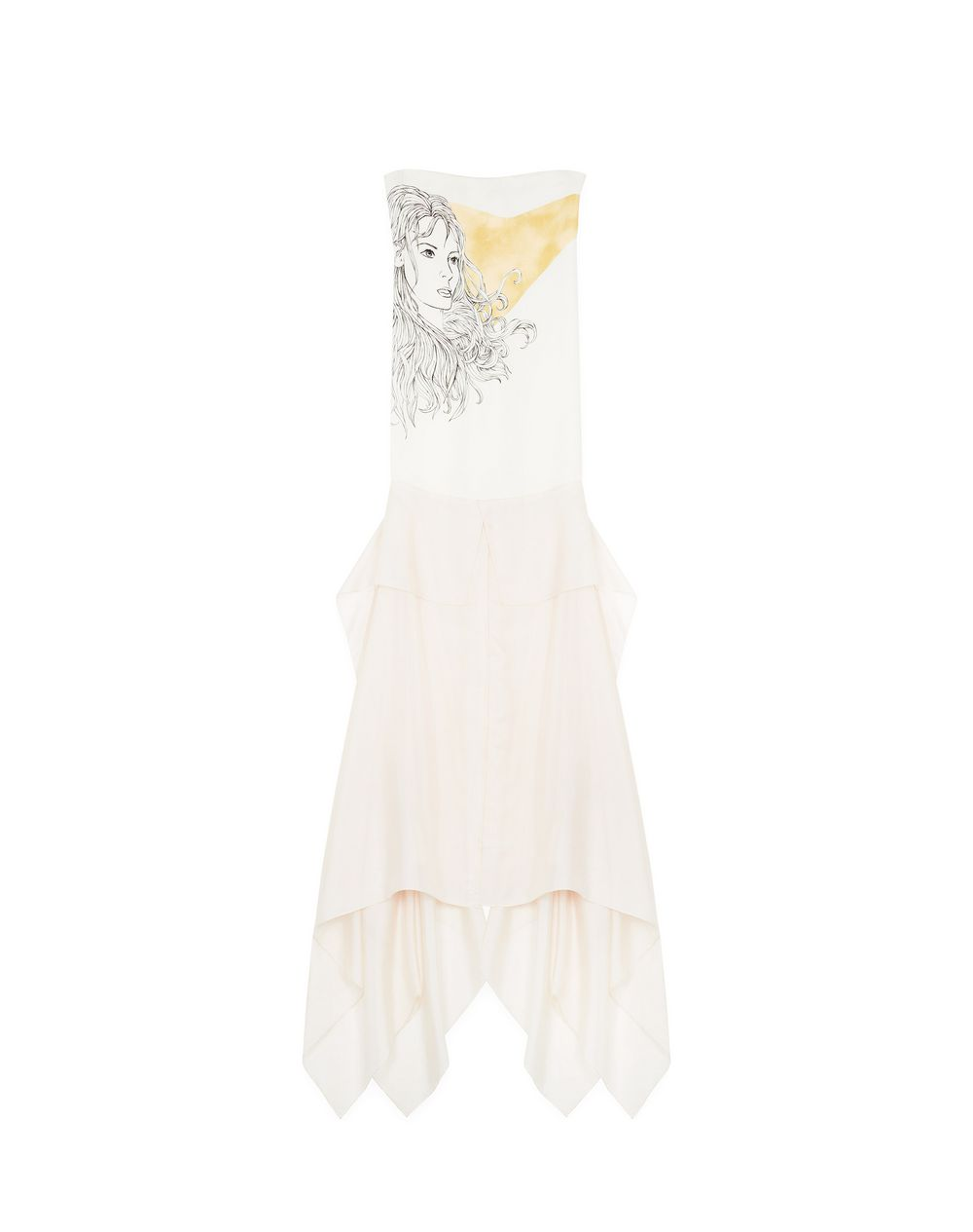 PRINTED SILK BUSTIER DRESS - Lanvin