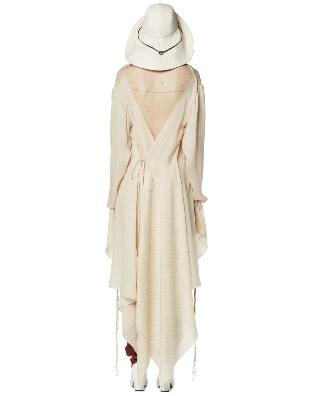 LONG ASYMMETRICAL SILK DRESS - Lanvin