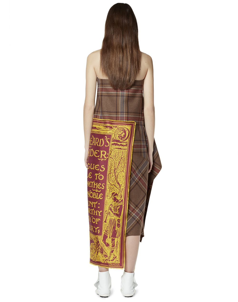 WOOL AND SILK BUSTIER DRESS - Lanvin