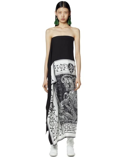BUSTIER SCARF DRESS  - Lanvin