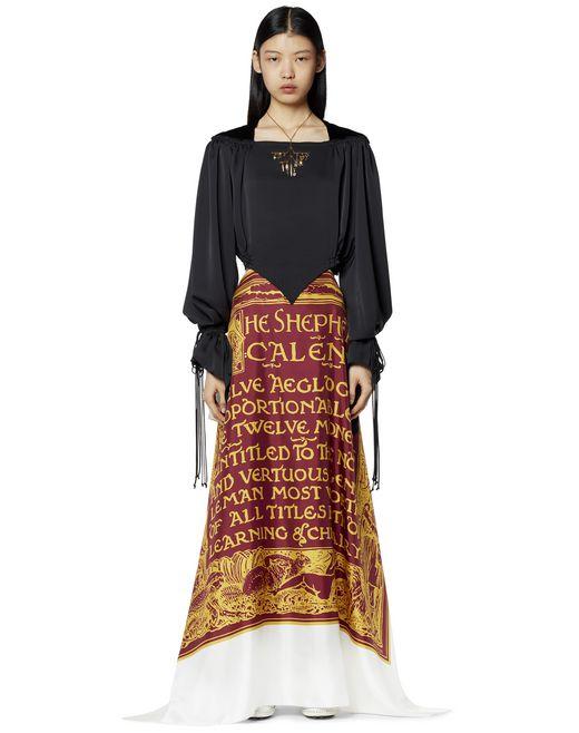 シルク製ロングドレス   - Lanvin