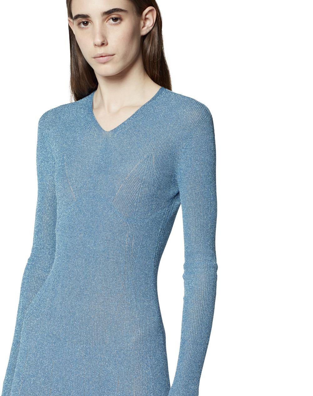 LONG ASYMMETRICAL LUREX DRESS - Lanvin