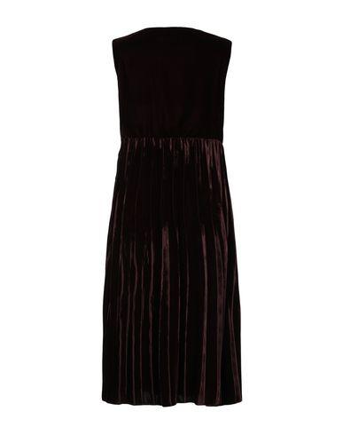 Фото 2 - Платье длиной 3/4 красно-коричневого цвета