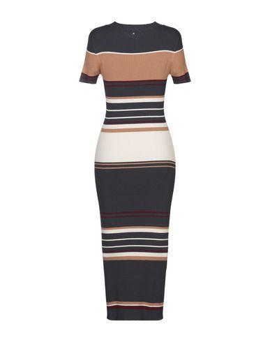 Фото 2 - Платье длиной 3/4 от TWINSET темно-синего цвета