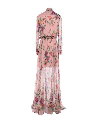 Фото 2 - Женское длинное платье  пастельно-розового цвета