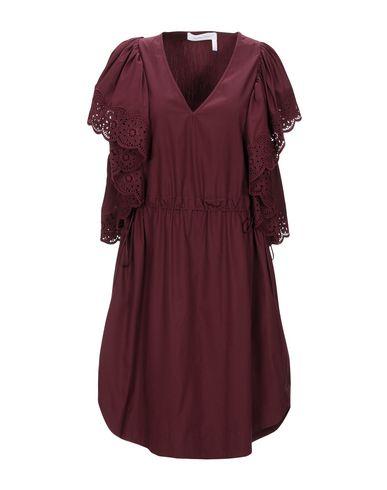 Фото - Женское короткое платье SEE BY CHLOÉ красно-коричневого цвета
