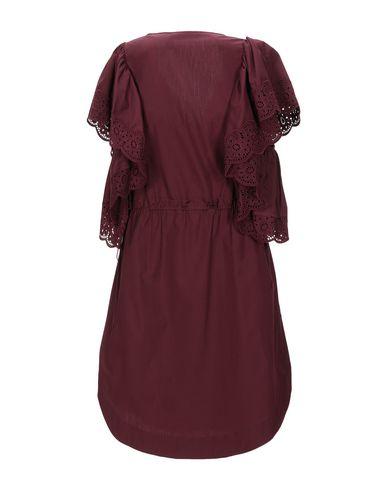 Фото 2 - Женское короткое платье SEE BY CHLOÉ красно-коричневого цвета