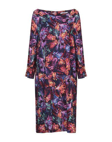 Фото - Платье до колена от LANACAPRINA темно-синего цвета