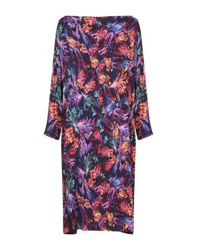Фото 2 - Платье до колена от LANACAPRINA темно-синего цвета