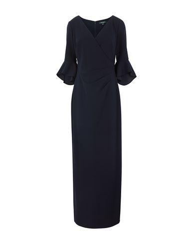 Фото - Женское длинное платье LAUREN RALPH LAUREN темно-синего цвета