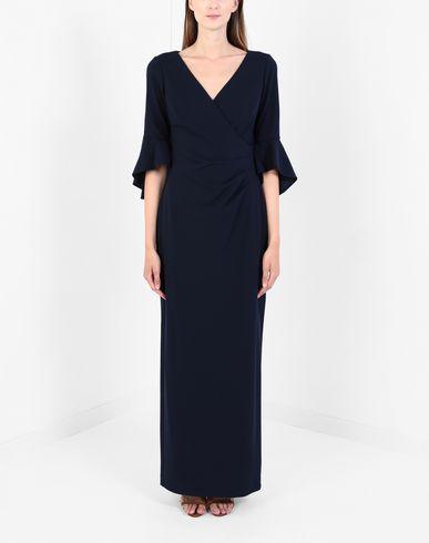 Фото 2 - Женское длинное платье LAUREN RALPH LAUREN темно-синего цвета