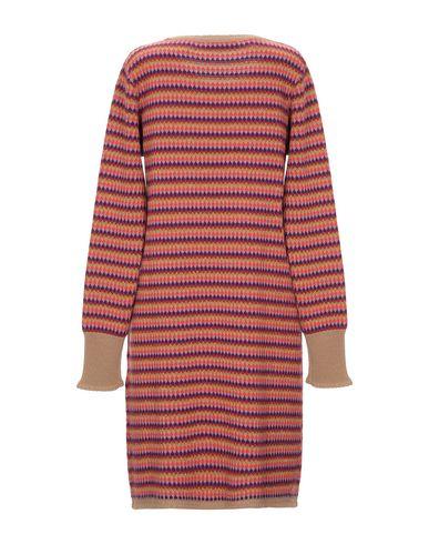 Фото 2 - Женское короткое платье TWINSET цвет верблюжий