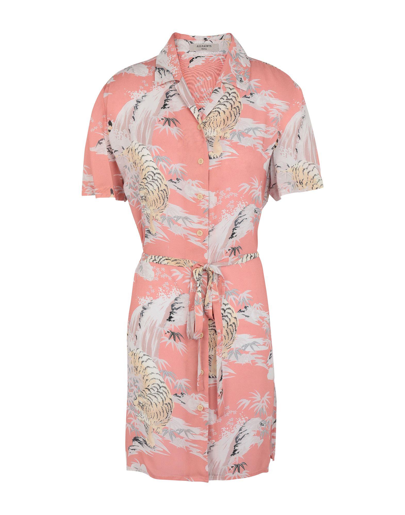 《セール開催中》ALLSAINTS レディース ミニワンピース&ドレス ピンク XS レーヨン 100% AMIA BORNEO DRESS