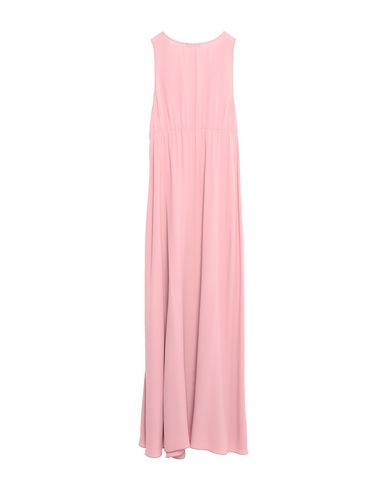 Фото 2 - Женское длинное платье CARLA G. розового цвета