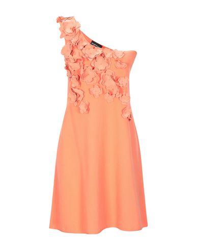 Фото - Женское короткое платье  лососево-розового цвета