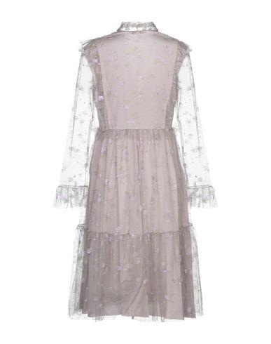 Фото 2 - Платье до колена цвет голубиный серый