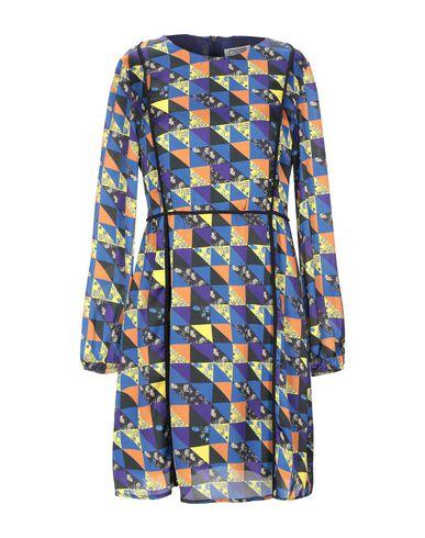 Фото - Женское короткое платье GRETHA Milano синего цвета