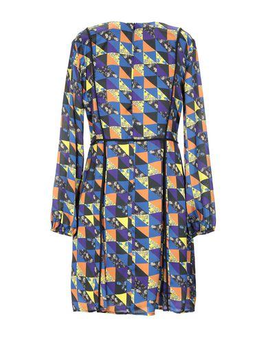 Фото 2 - Женское короткое платье GRETHA Milano синего цвета