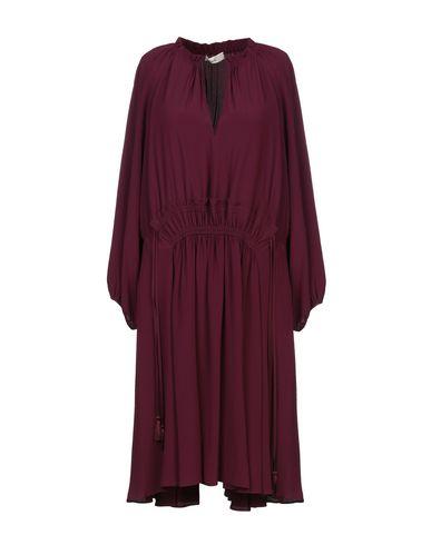 Фото - Платье до колена цвет баклажанный