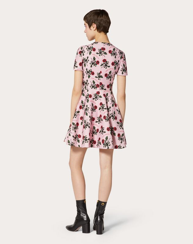 Undercover Print Crepe Couture Dress
