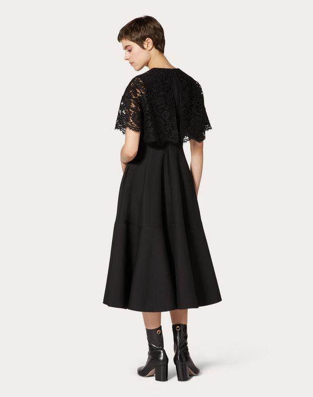 クレープクチュール x ヘビーレース ドレス