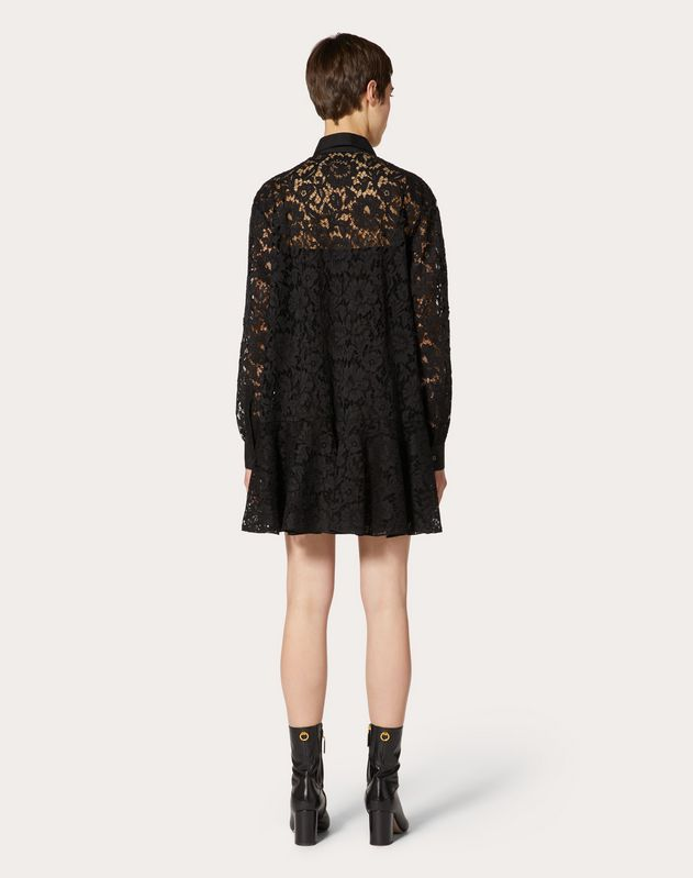 Heavy Lace and Poplin Dress