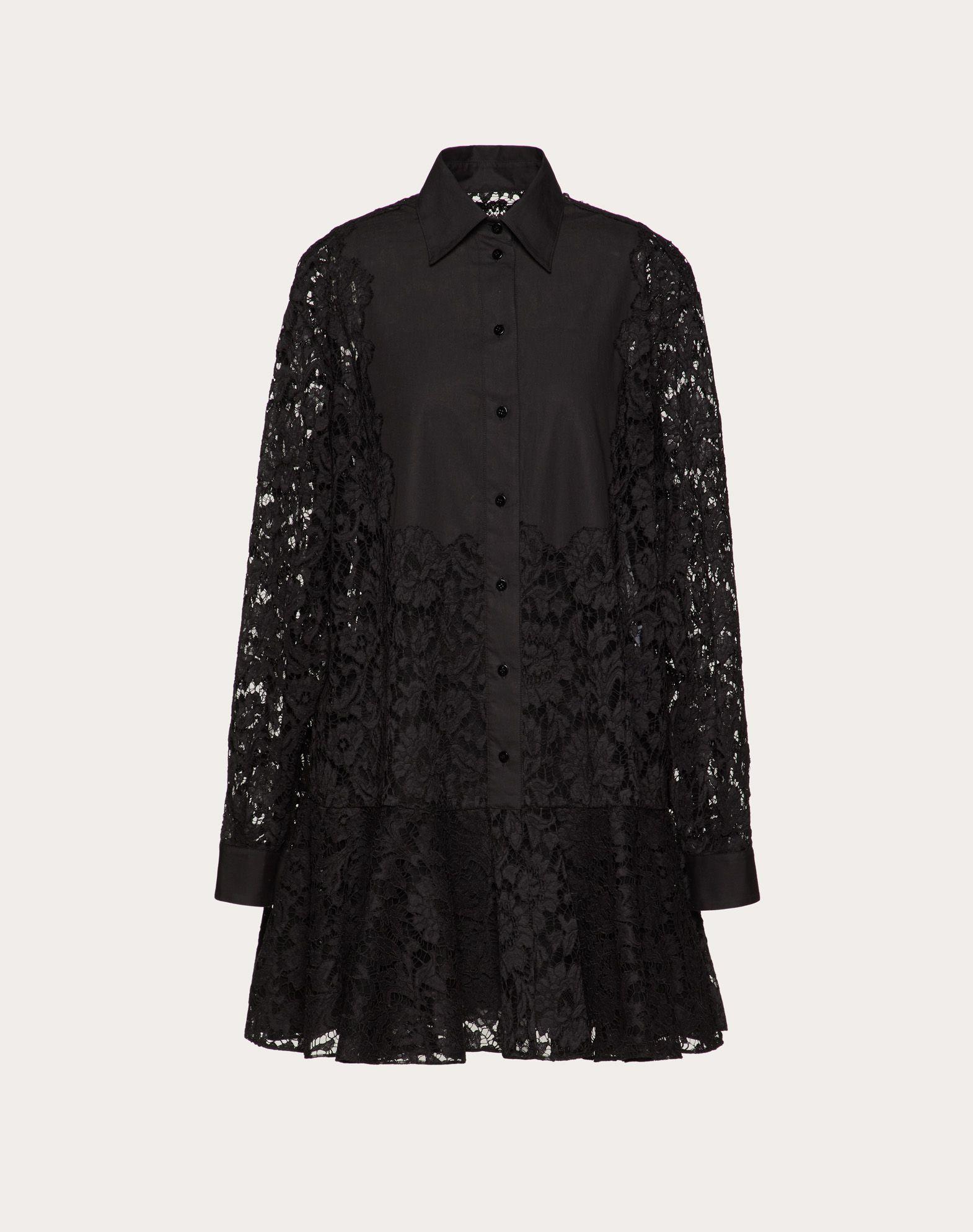 Heavy Lace and Poplin Dress