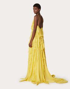 Chiffon Evening Dress with Ruffles