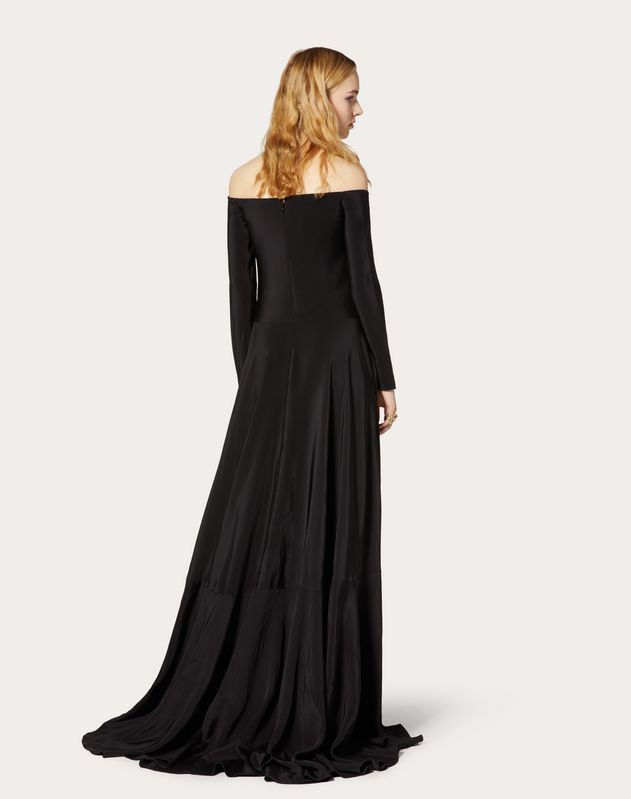Vestido de noche de cady Couture